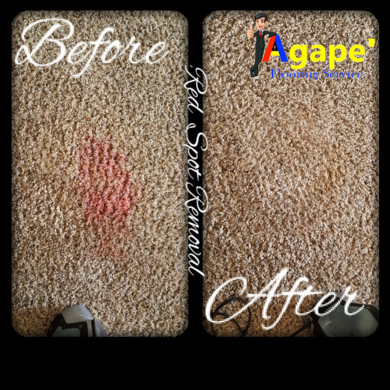 Before & After Red Stain Removal in Oklahoma City, OK