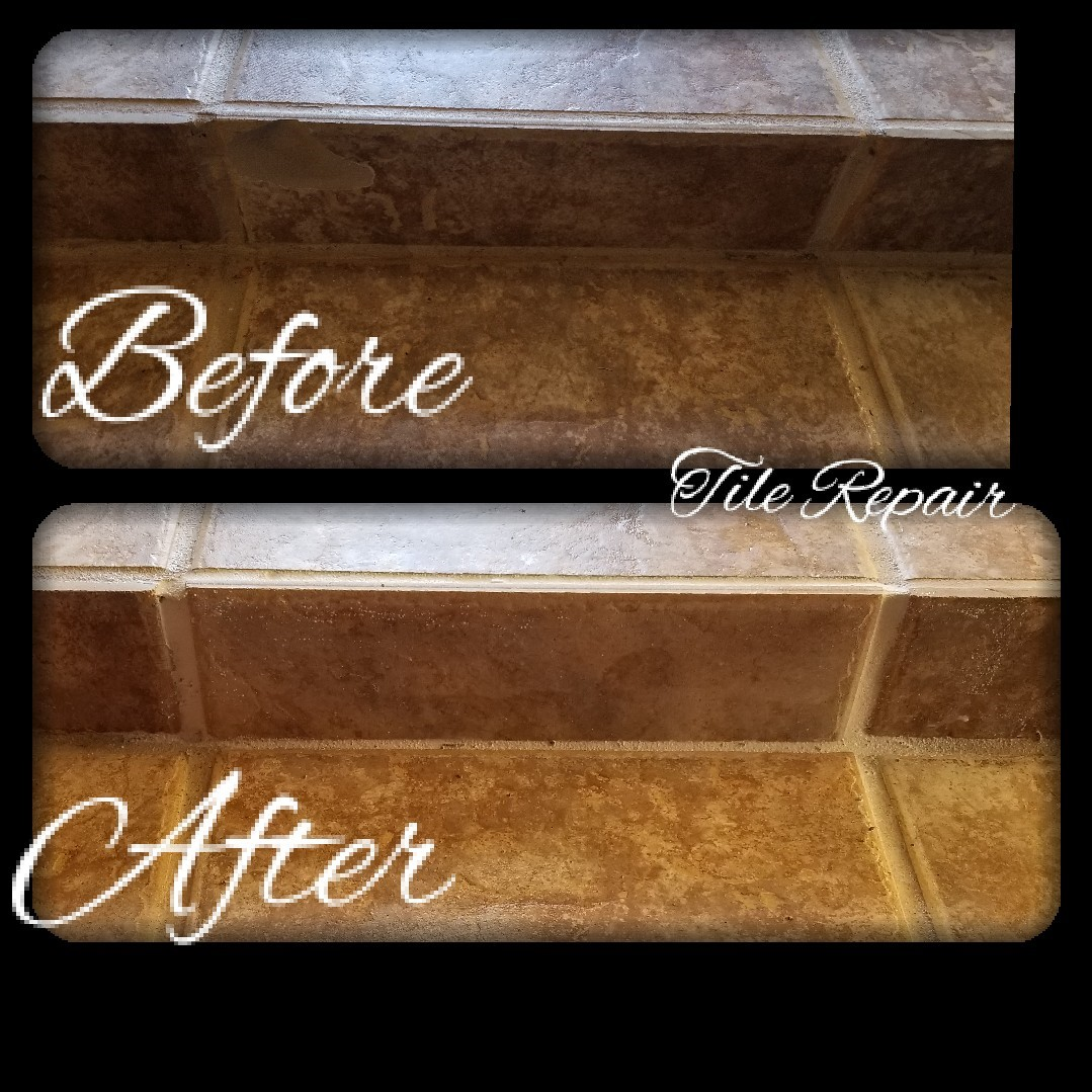 Before & After Tile Cleaning in Oklahoma City, OK